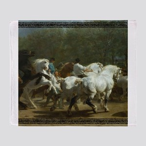 Rosa Bohneur Horse Fair Throw Blanket