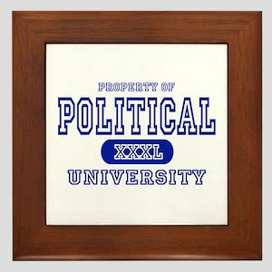 Political University Framed Tile