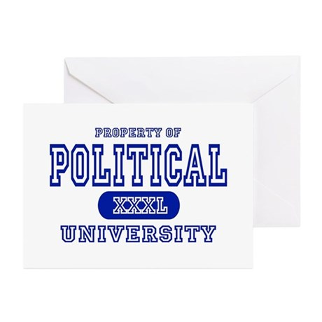 Political University Greeting Cards (Pk of 10)