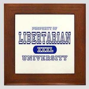 Libertarian University Framed Tile
