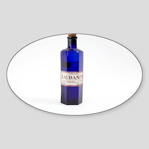 Antique laudanum bottle - Sticker (Oval 10 pk)