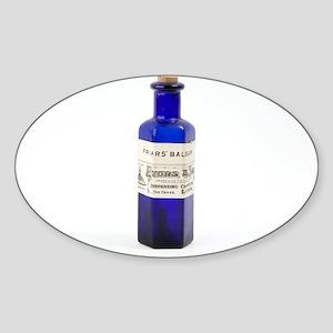 Antique pharmacy bottle - Sticker (Oval 10 pk)