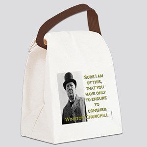 Sure I Am Of This - Churchill Canvas Lunch Bag