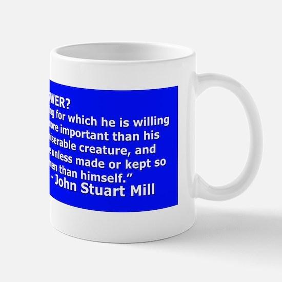 War Is Not the Answer- John Stuart Mill Mug