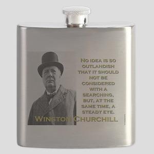 No Idea Is So Outlandish - Churchill Flask