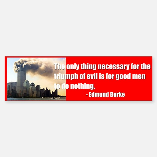 Triumph of Evil (9-11) Bumpersticker