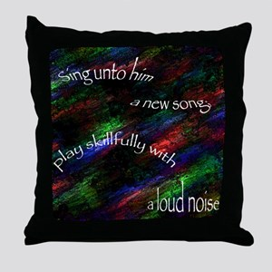 Play Skillfully with a Loud Noise Throw Pillow