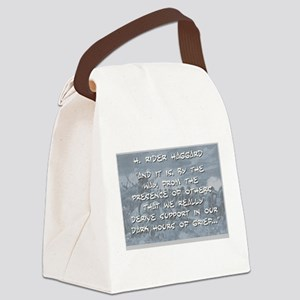 And It Is, By The Way - Haggard Canvas Lunch Bag
