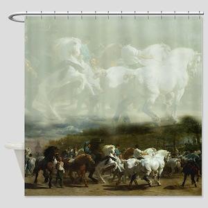 Rosa Bohneur Horse Fair 2 Shower Curtain