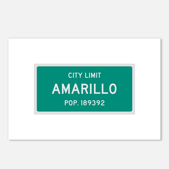 Amarillo, Texas City Limits Postcards (Package of