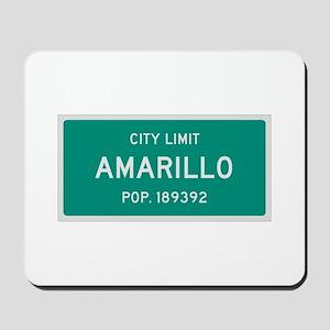 Amarillo, Texas City Limits Mousepad