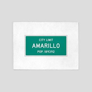 Amarillo, Texas City Limits 5'x7'Area Rug