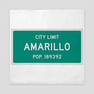 Amarillo, Texas City Limits Queen Duvet