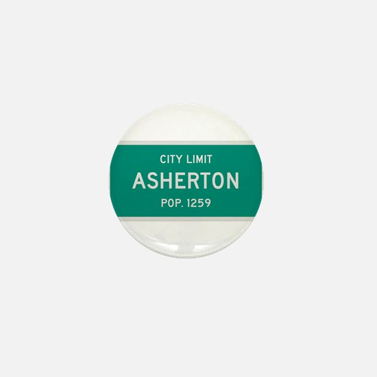 Asherton, Texas City Limits Mini Button