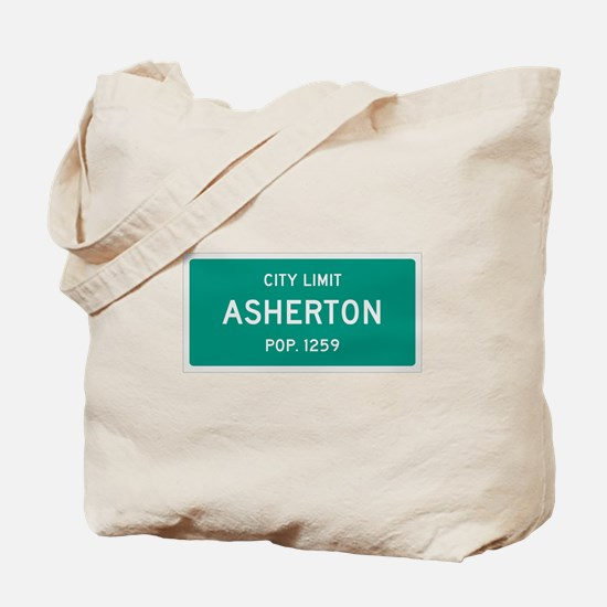 Asherton, Texas City Limits Tote Bag