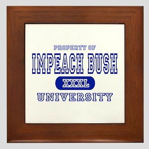 Impeach Bush University Framed Tile