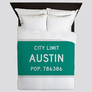 Austin, Texas City Limits Queen Duvet