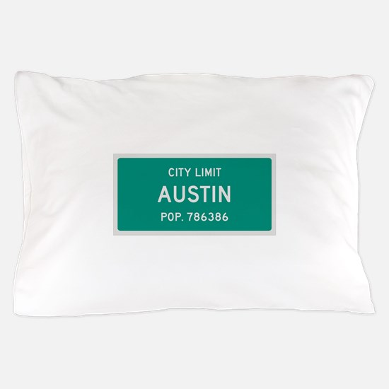 Austin, Texas City Limits Pillow Case