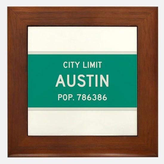 Austin, Texas City Limits Framed Tile