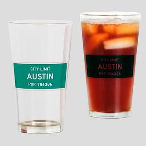 Austin, Texas City Limits Drinking Glass
