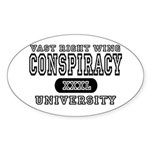 Right Wing Conspiracy University Oval Sticker