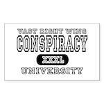 Right Wing Conspiracy University Sticker (Rectangu