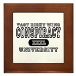 Right Wing Conspiracy University Framed Tile