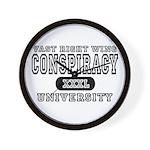Right Wing Conspiracy University Wall Clock