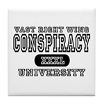 Right Wing Conspiracy University Tile Coaster