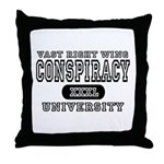 Right Wing Conspiracy University Throw Pillow