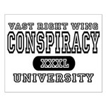 Right Wing Conspiracy University Small Poster
