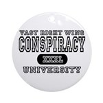 Right Wing Conspiracy University Ornament (Round)