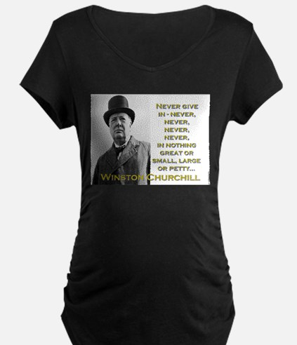 Never Give In - Churchill T-Shirt