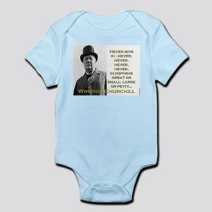 Never Give In - Churchill Infant Bodysuit