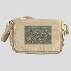And Now Let Us Love - Haggard Messenger Bag