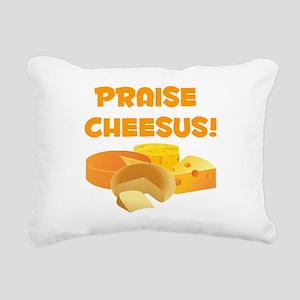 Praise Cheesus! Rectangular Canvas Pillow