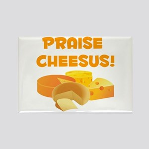 Praise Cheesus! Rectangle Magnet