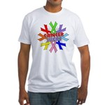 All Cancers Suck Fitted T-Shirt