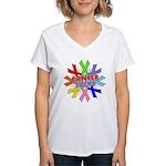 All Cancers Suck Women's V-Neck T-Shirt