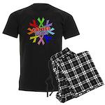 All Cancers Suck Men's Dark Pajamas