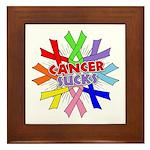 All Cancers Suck Framed Tile