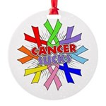 All Cancers Suck Round Ornament