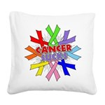 All Cancers Suck Square Canvas Pillow