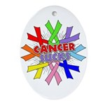 All Cancers Suck Ornament (Oval)