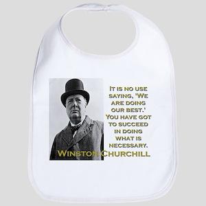 It Is No Use Saying - Churchill Cotton Baby Bib