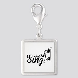 Just Sing Silver Square Charm