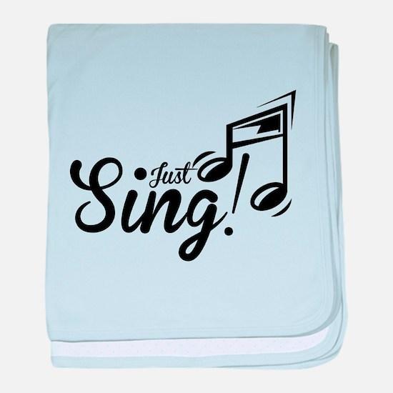 Just Sing baby blanket