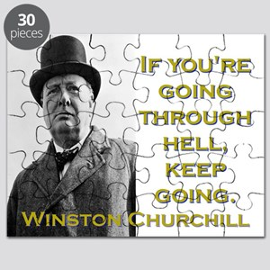 If Youre Going Through Hell - Churchill Puzzle