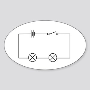 Lamps connected in series - Sticker (Oval 10 pk)