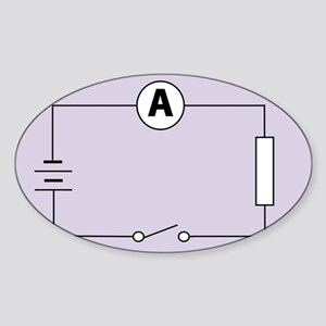 Measuring electric current - Sticker (Oval 10 pk)